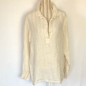 CP Shades linen tunic slightly textured lines sz M